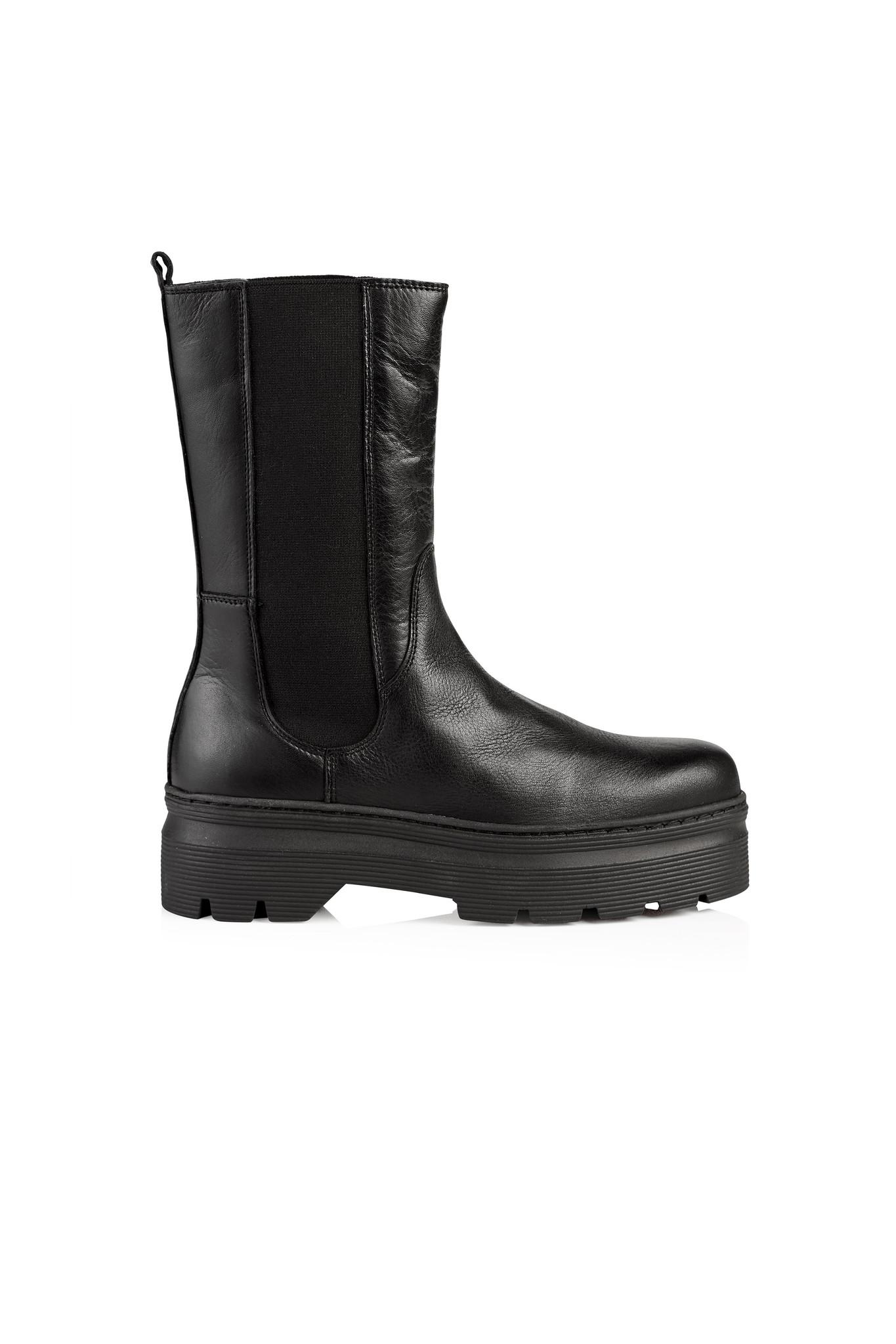 Aya Leather Boot - Black-1