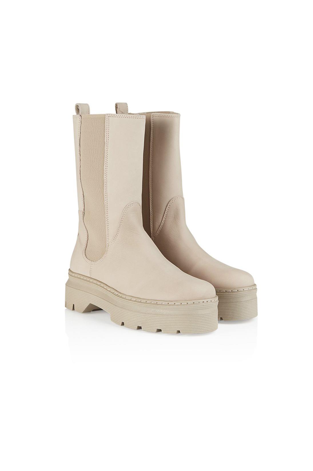 Aya Nubuck Boot - Nude-2