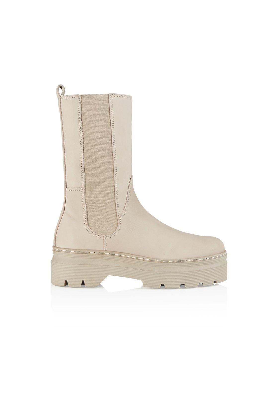 Aya Nubuck Boot - Nude-1