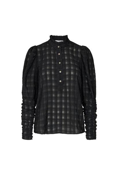 Rowland Puff Sleeve Shirt - Zwart