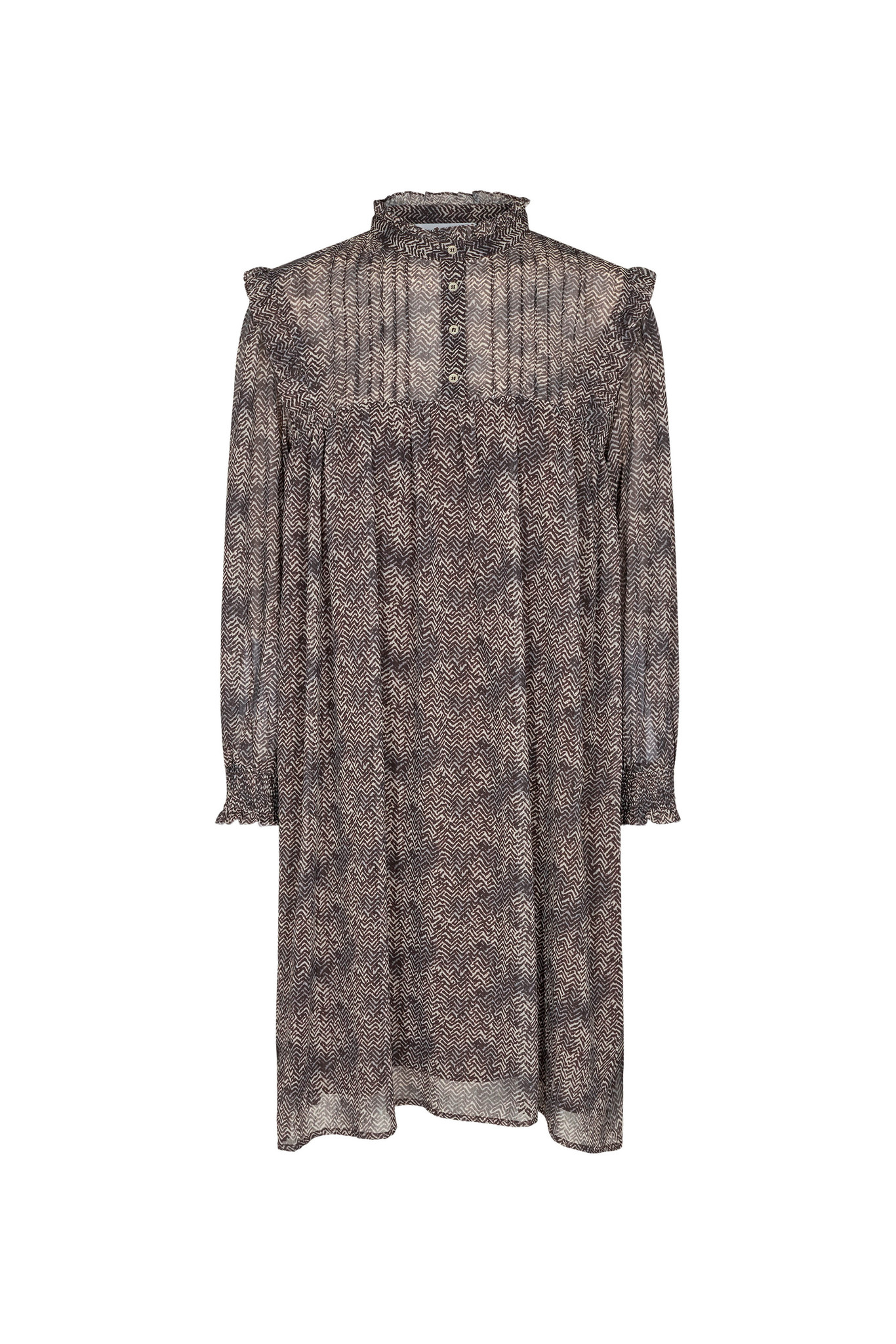 Zorro Tunic Dress - Mocca-1