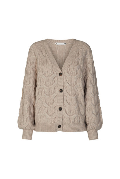 Jennese Cable Cardigan - Bone