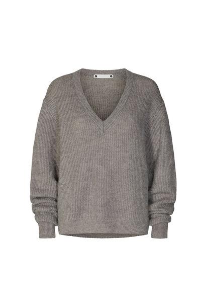 Leona V-neck - Light Grey
