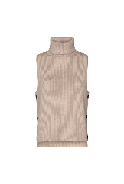 Row Button Vest - Bone