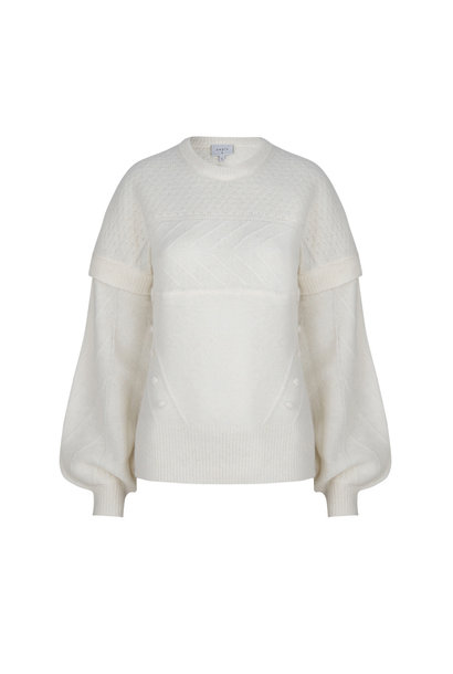 Oakly Knit Cable Sweater - Bone