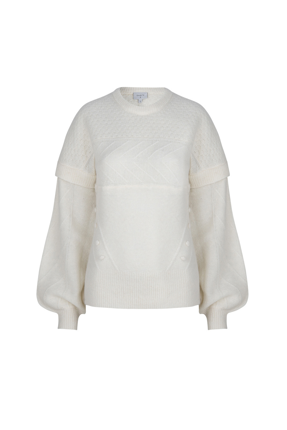 Oakly Knit Cable Sweater - Bone-1