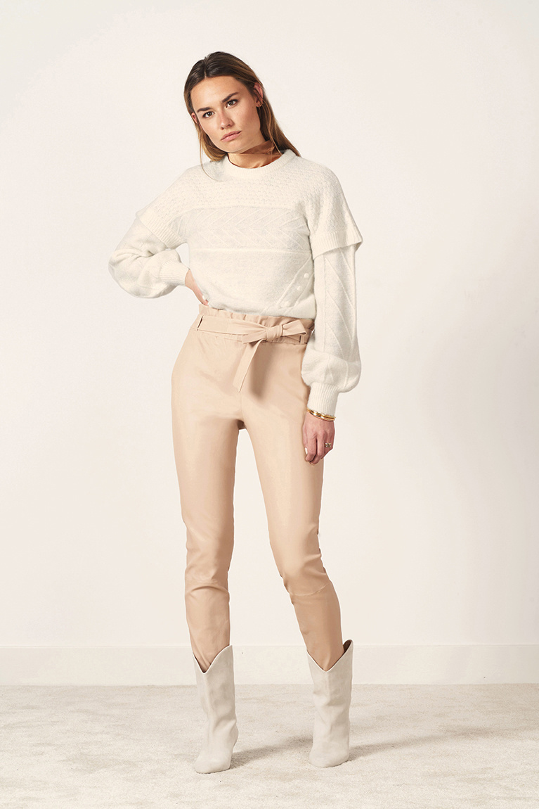 Oakly Knit Cable Sweater - Bone-2