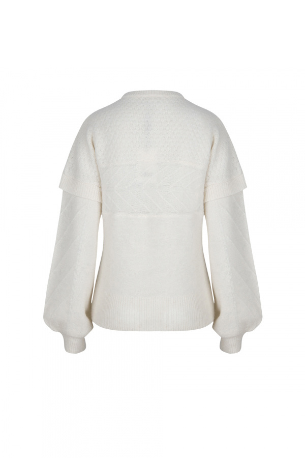 Oakly Knit Cable Sweater - Bone-3