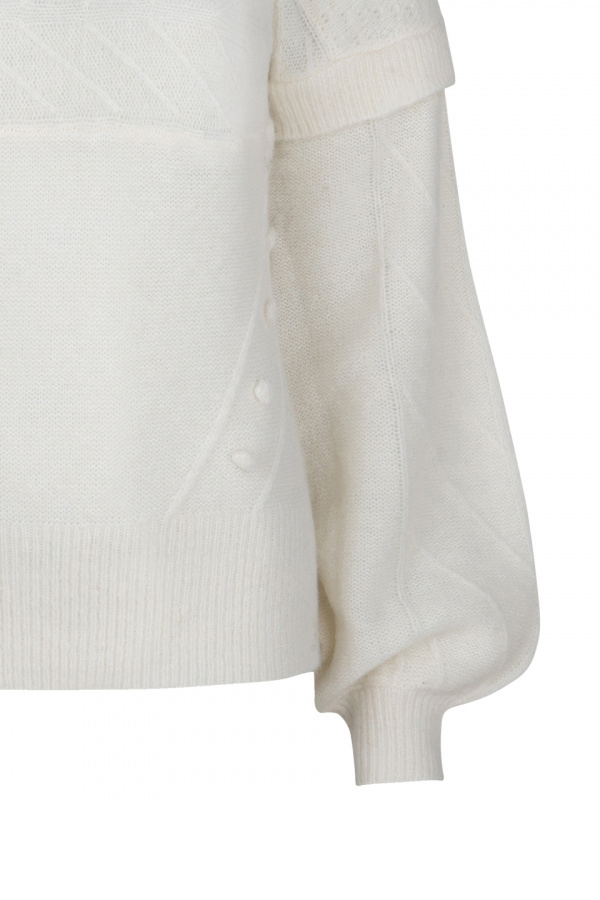 Oakly Knit Cable Sweater - Bone-4