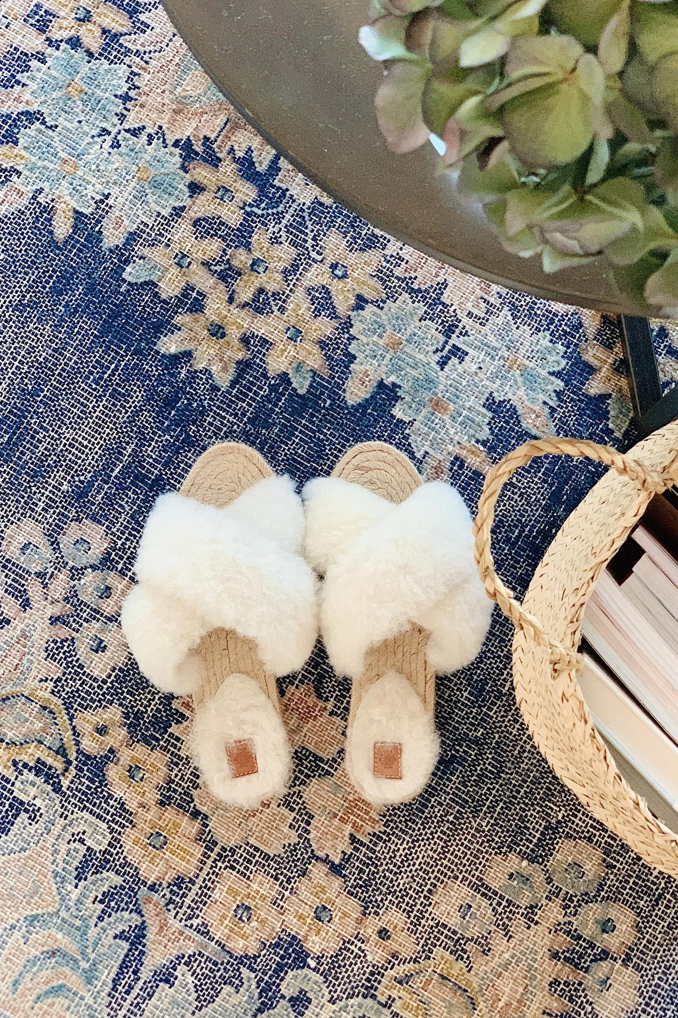 Lori Sheepskin Wool Slippers - Off White-2