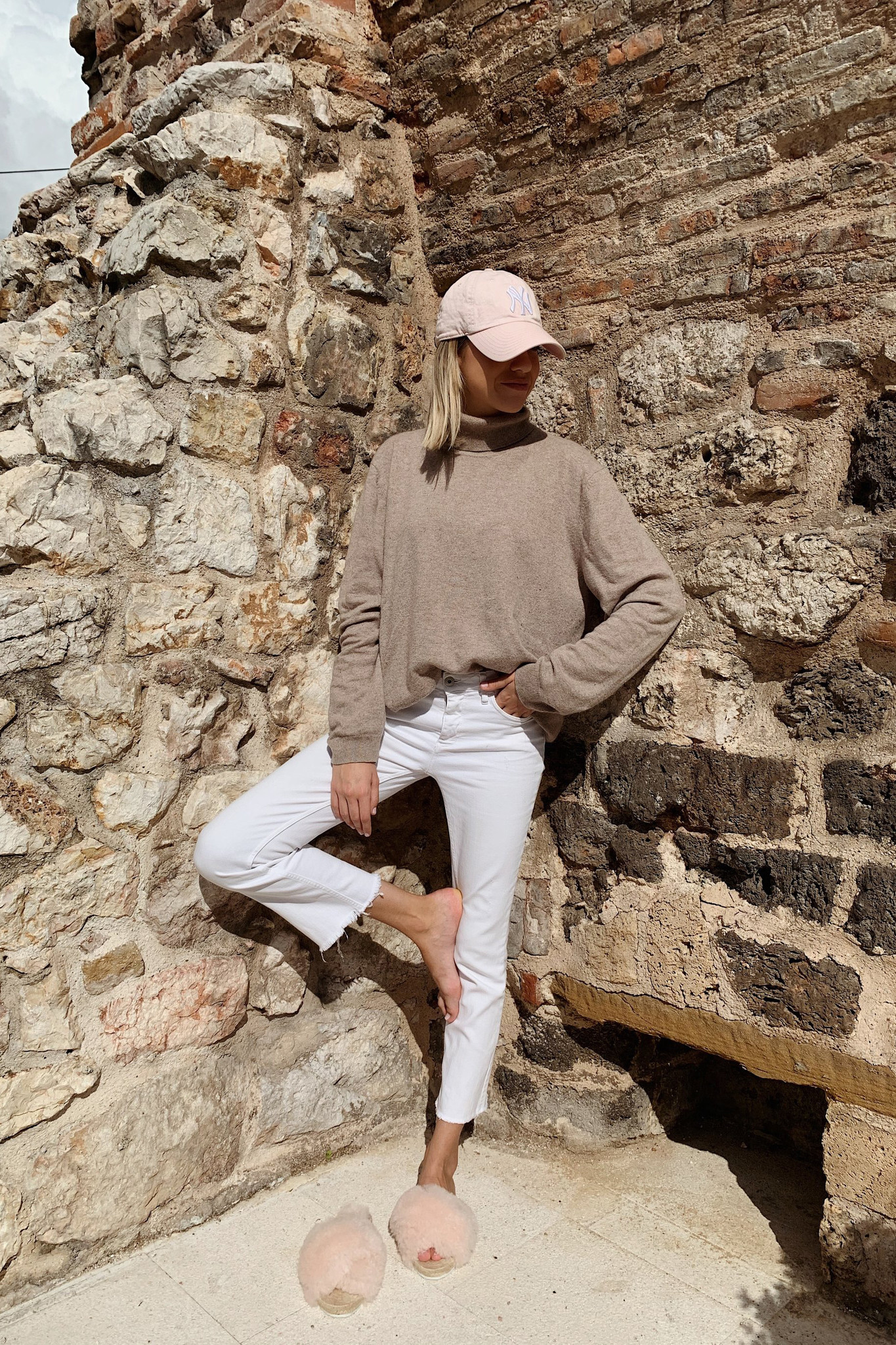 Lori Sheepskin Wool Slippers - Off White-6