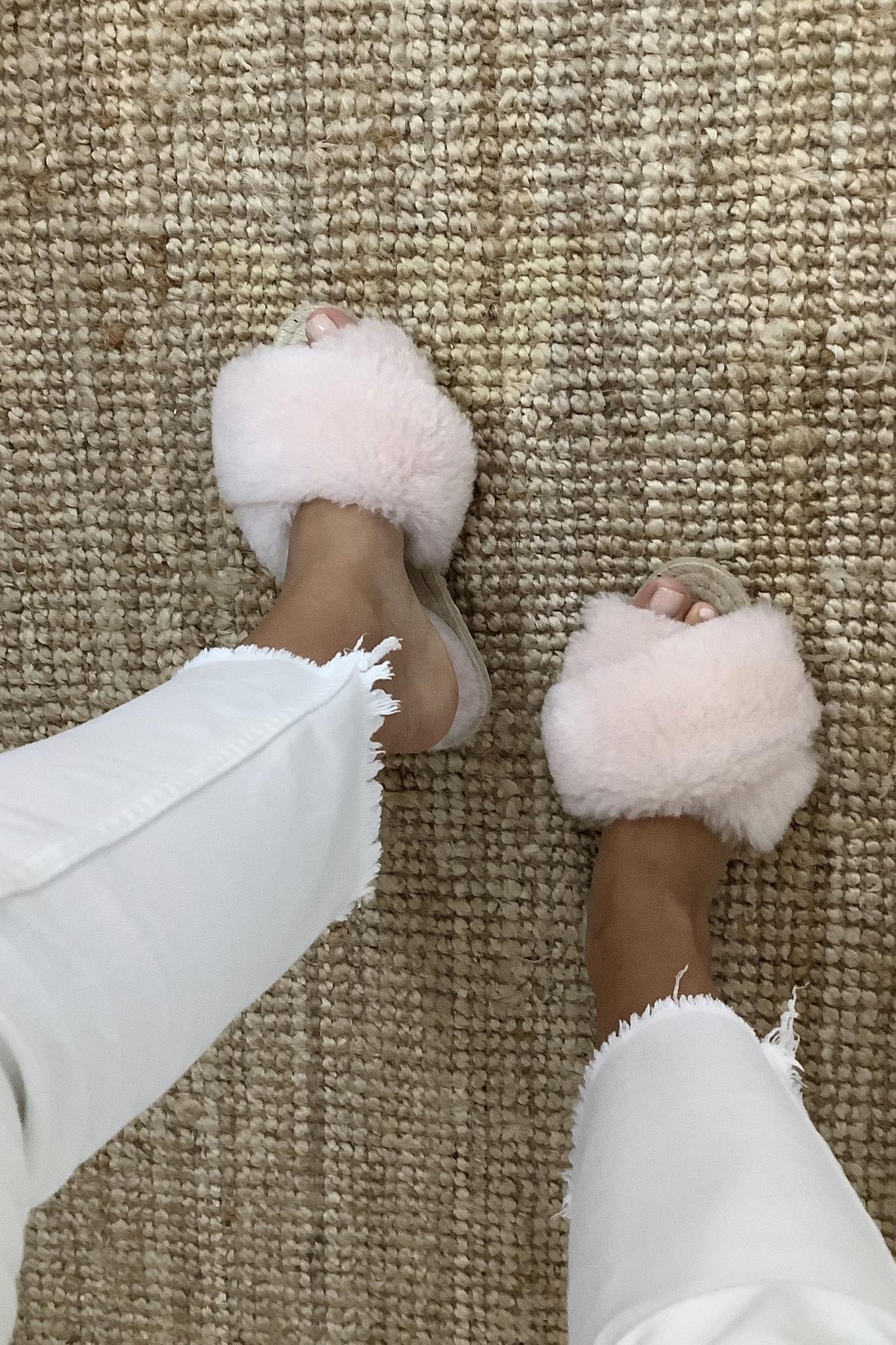 Lori Sheepskin Wool Slippers - Off White-7