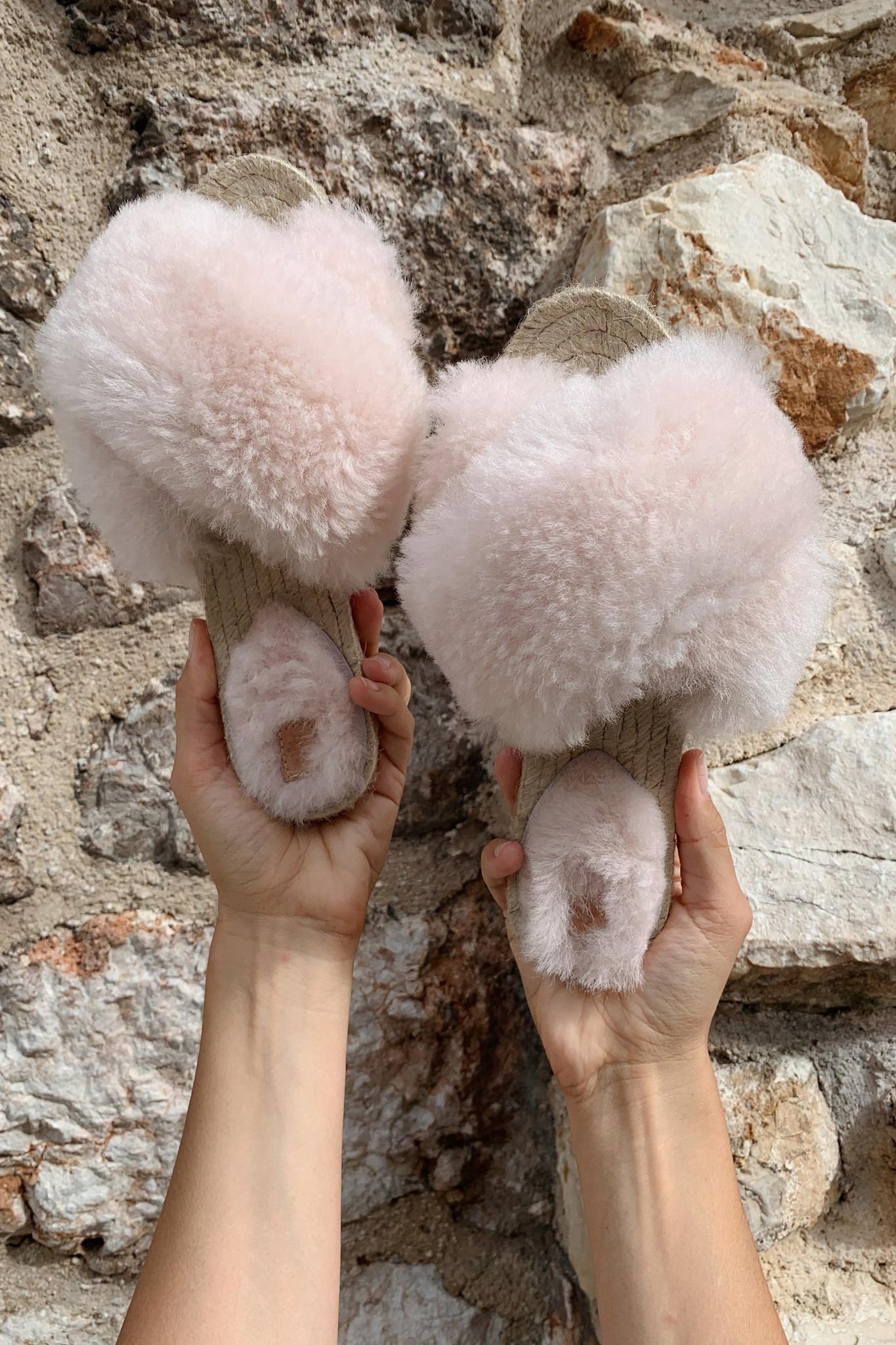 Lori Sheepskin Wool Slippers - Off White-9