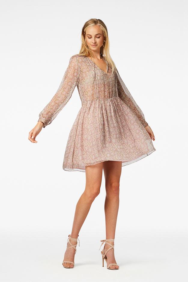 Kailey Mini Dress - Flower Pink-2