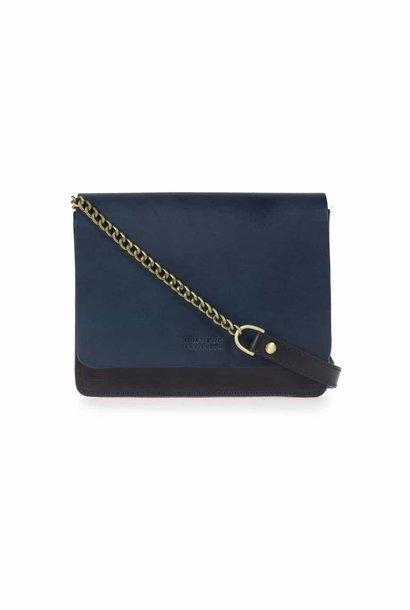 Audrey Mini Chain Bag - Black / Navy