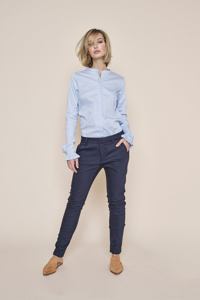 Abbey Night Pant Sustainable - Navy-2