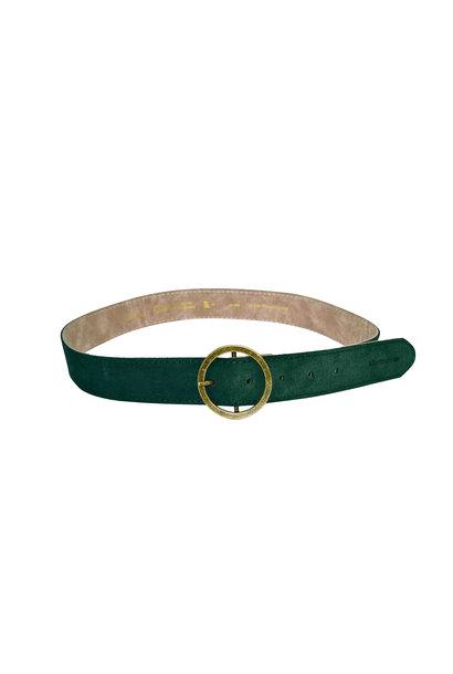 Suede Belt - Sap Green 75