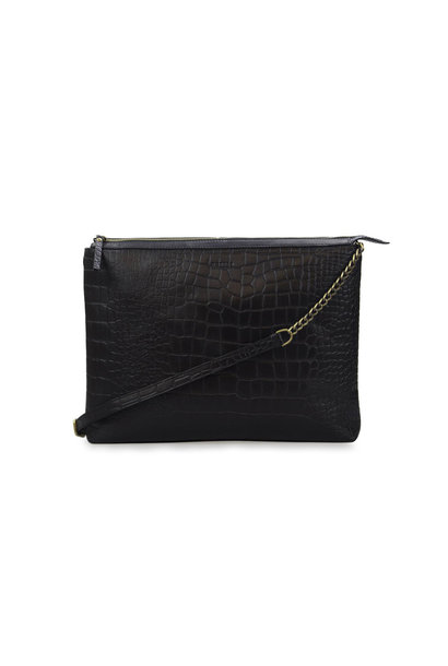 Scarlet Bag - Black Croco Classic Leather