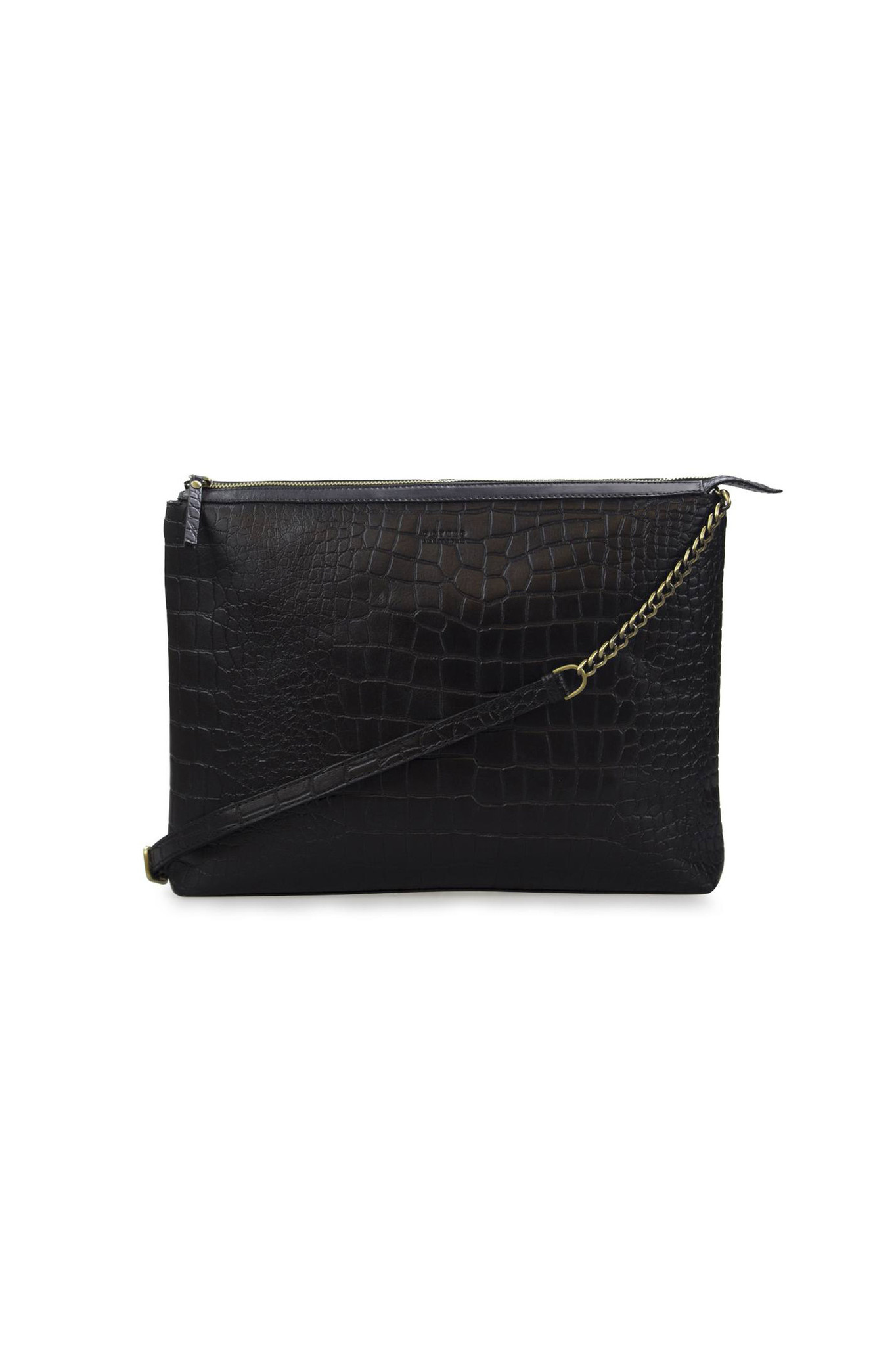 Scarlet Bag - Black Croco Classic Leather-1