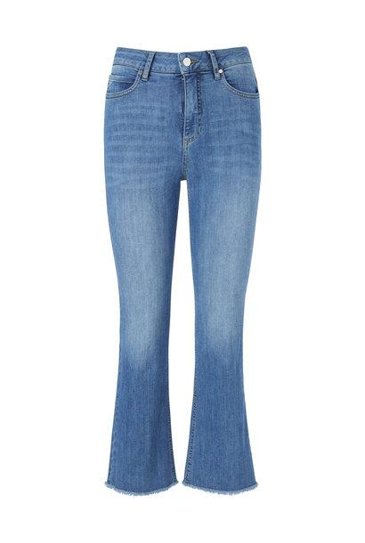 Ohio Cropped Jeans - Blauw Wash