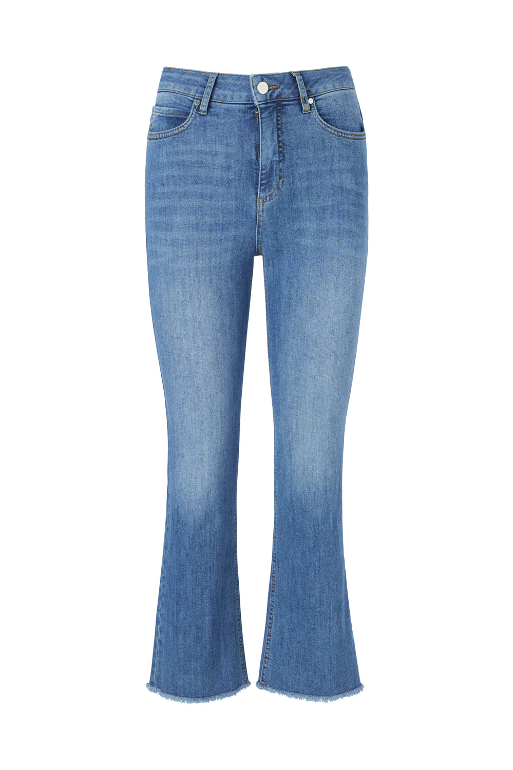 Ohio Cropped Jeans - Blue Wash-1