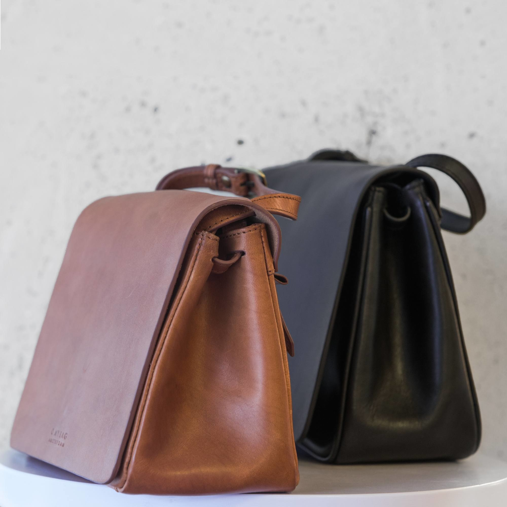 The Lucy Bag - Eco Black Classic Leather-5