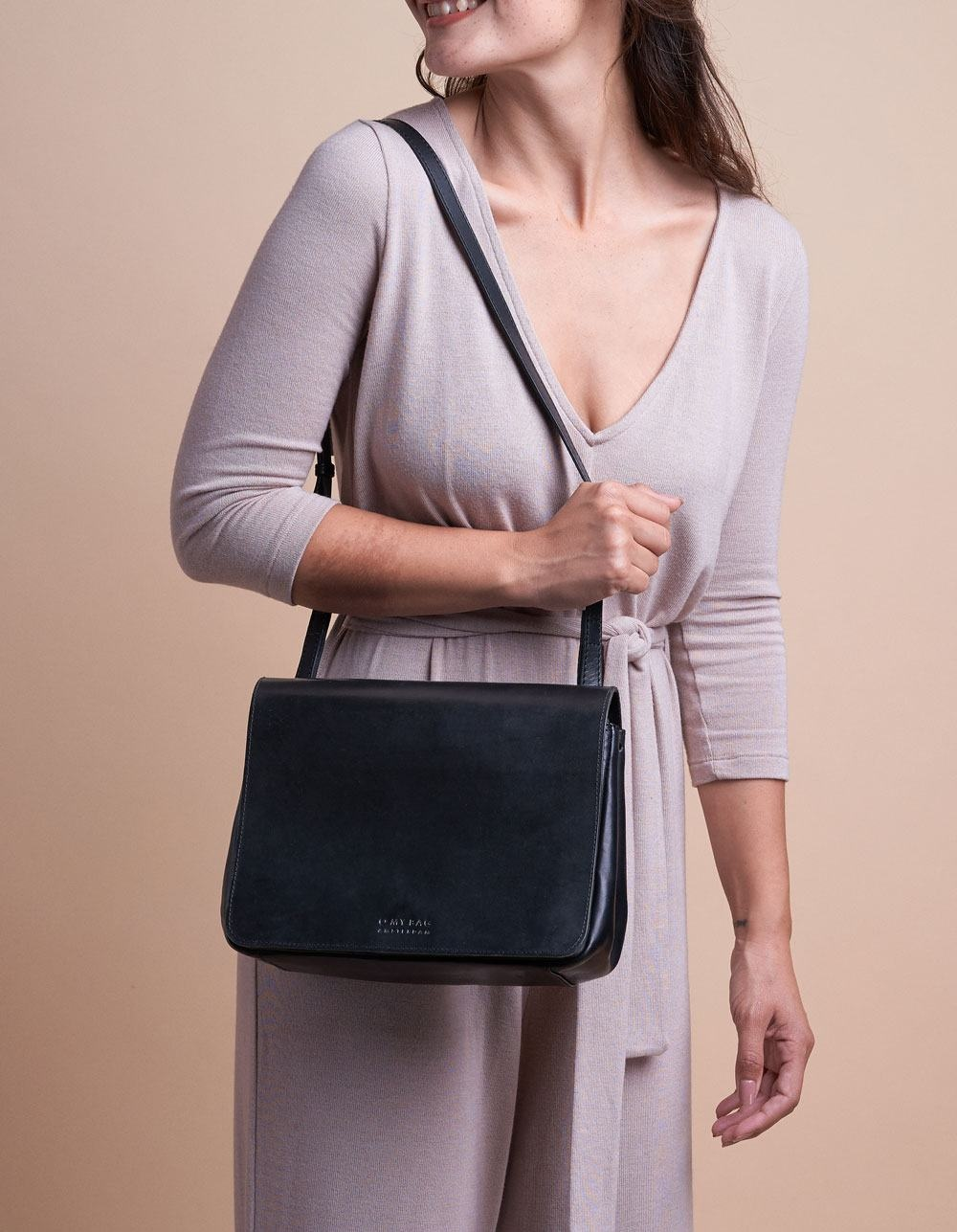 The Lucy Bag - Eco Black Classic Leather-6