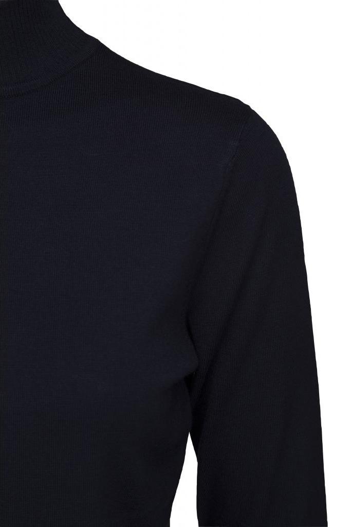 Lana Roll Neck Knit - Black Iris Solid-3