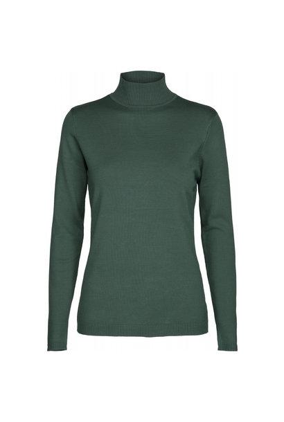 Lana Roll Neck Knit - Hunter Green Melange