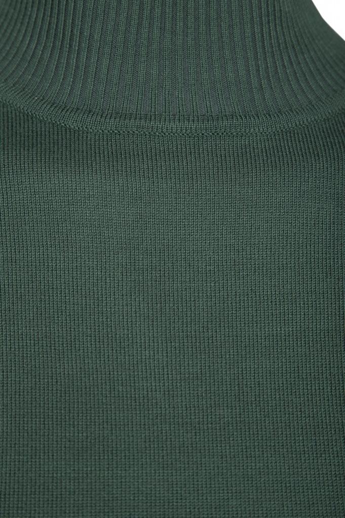 Lana Roll Neck Knit - Hunter Green Melange-3