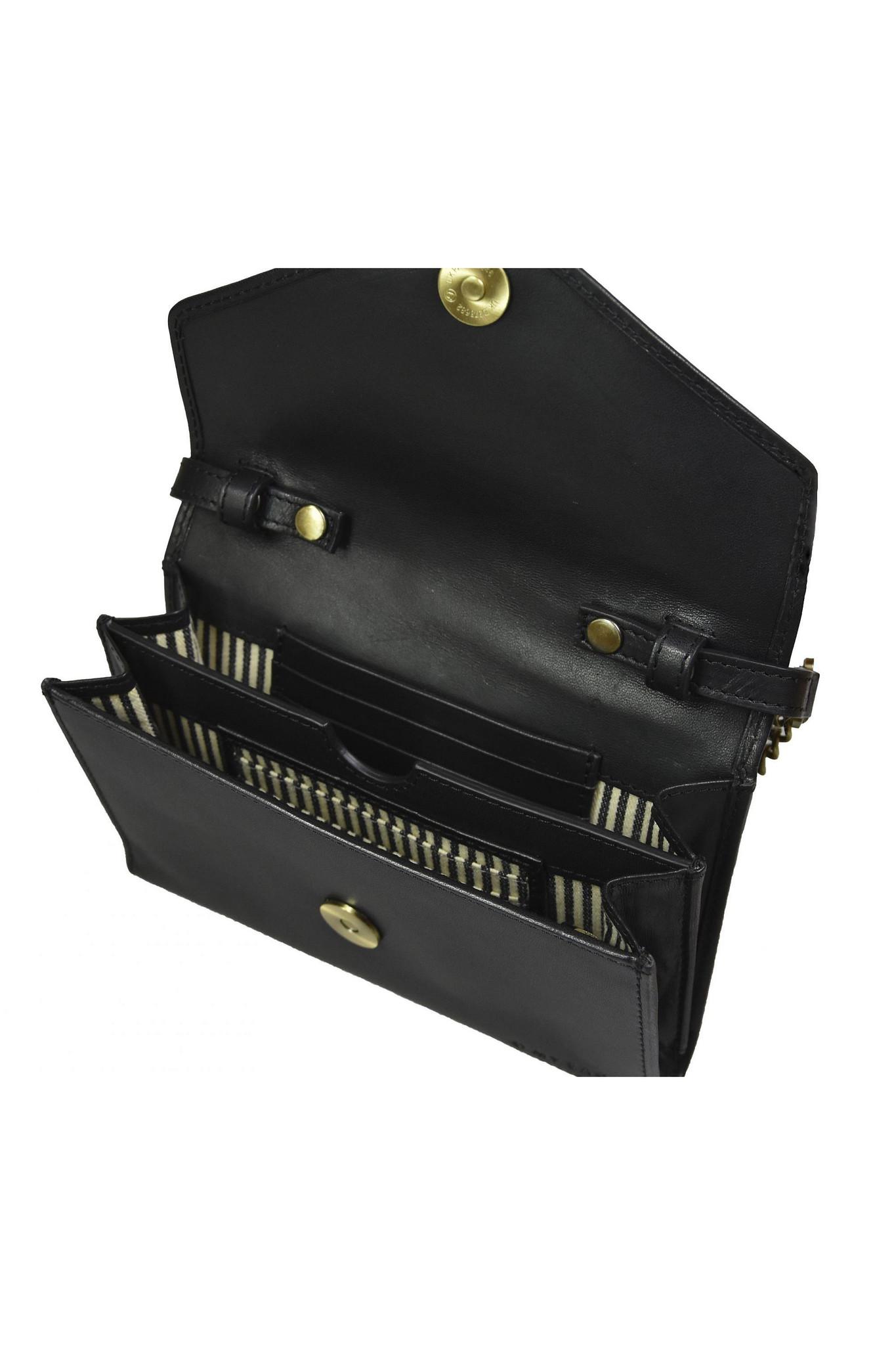 Josephine Chain Bag - Black Classic Leather-3