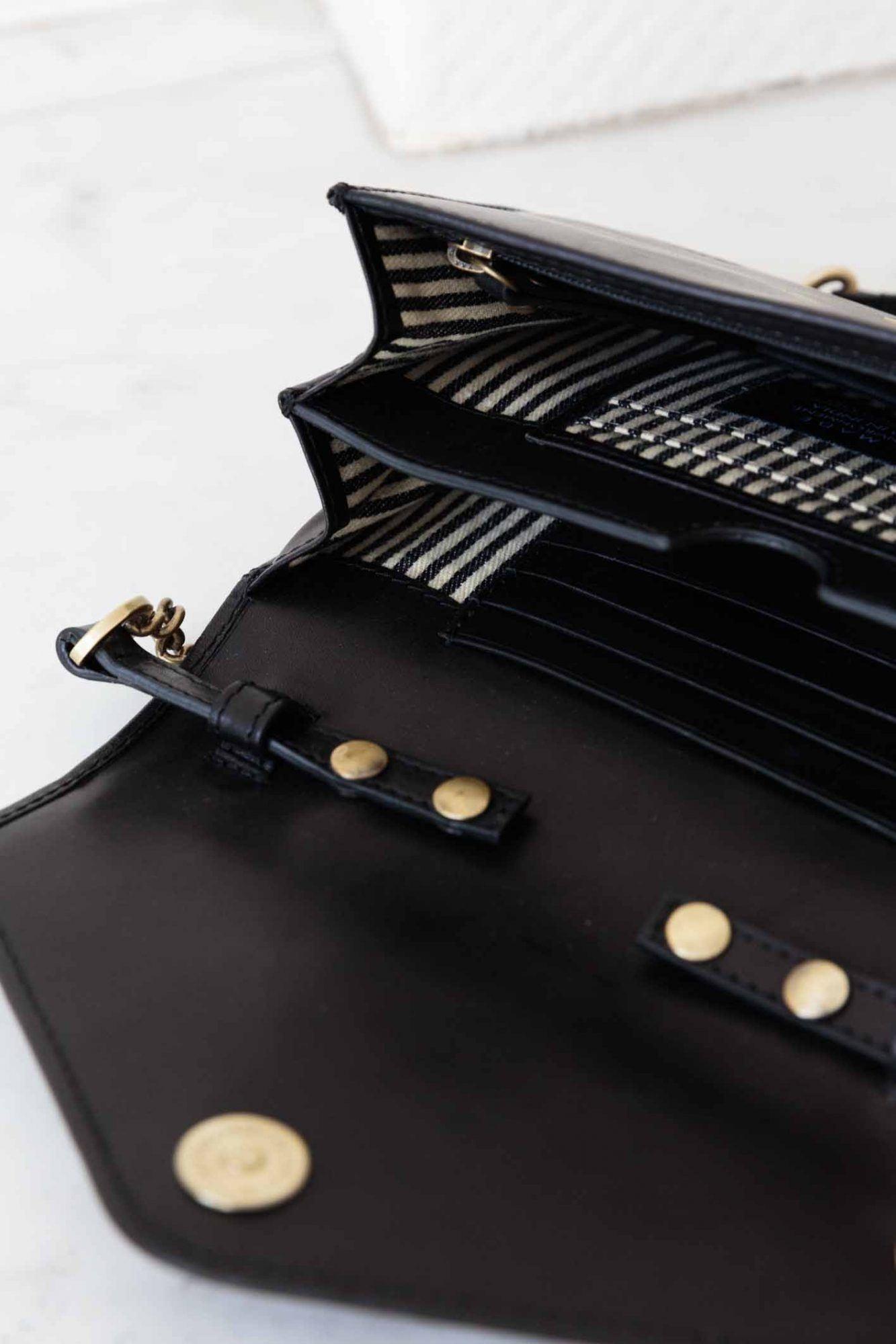 Josephine Chain Bag - Black Classic Leather-4