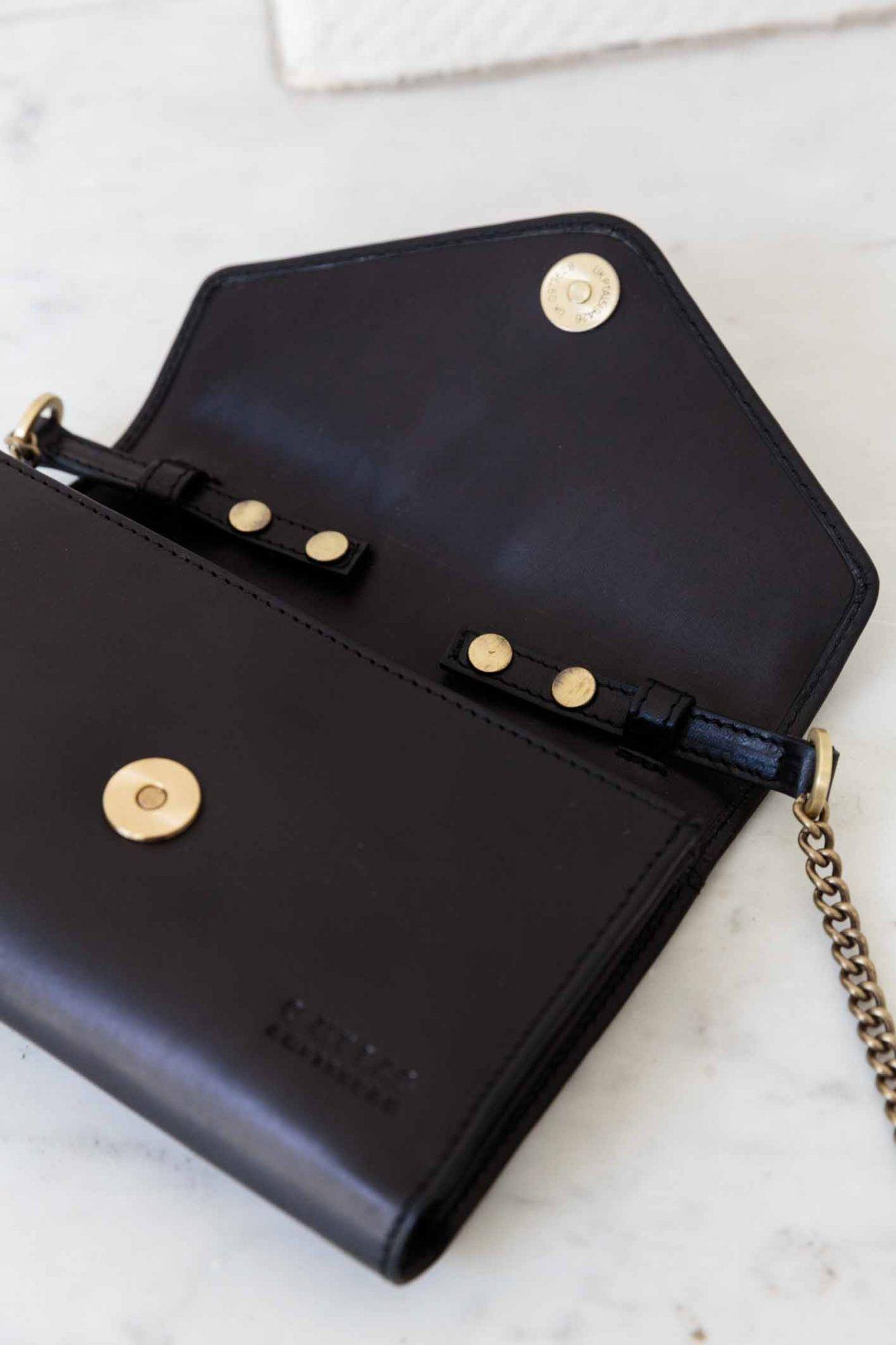Josephine Chain Bag - Black Classic Leather-5