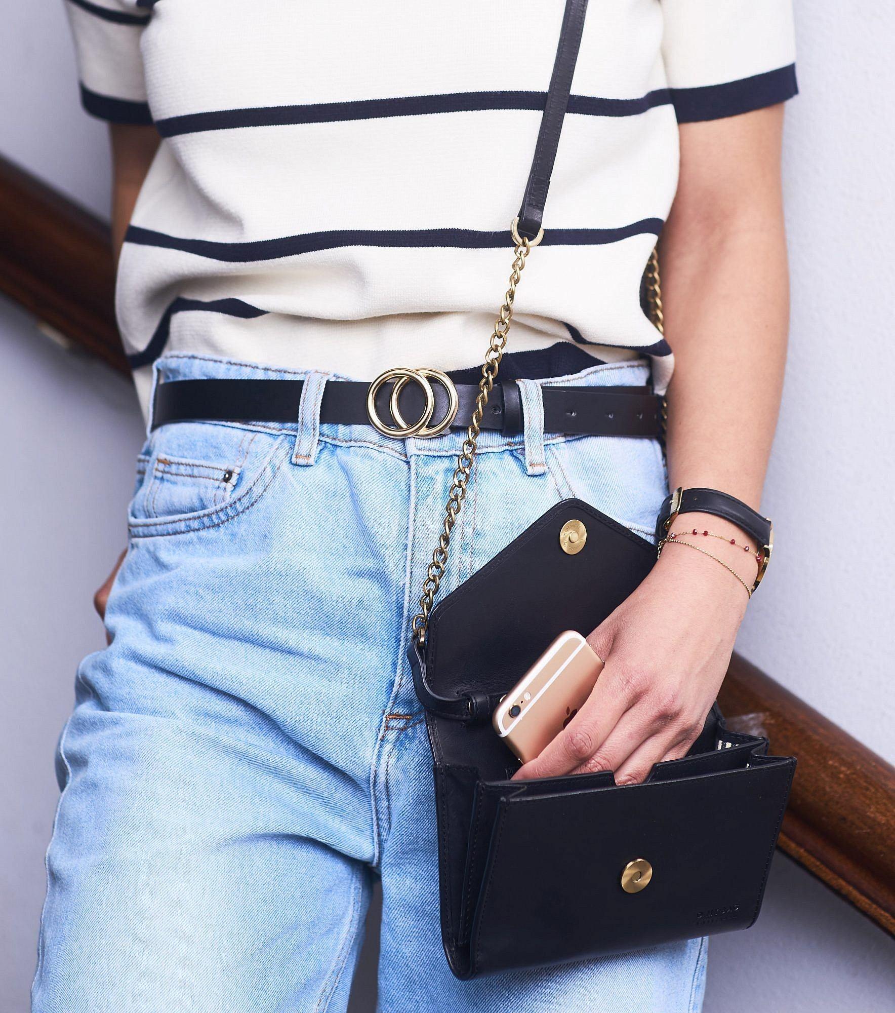 Josephine Chain Bag - Black Classic Leather-6