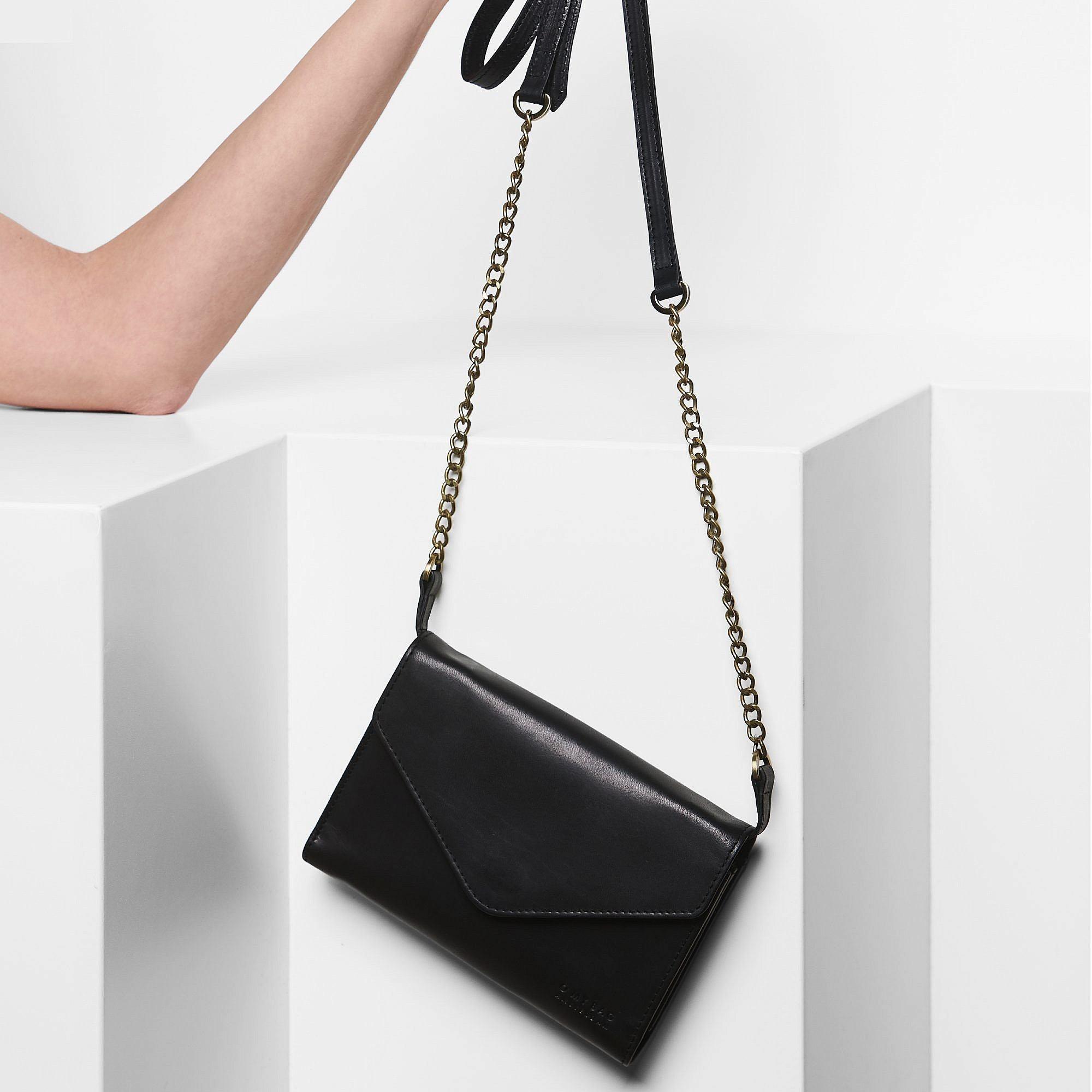 Josephine Chain Bag - Black Classic Leather-7