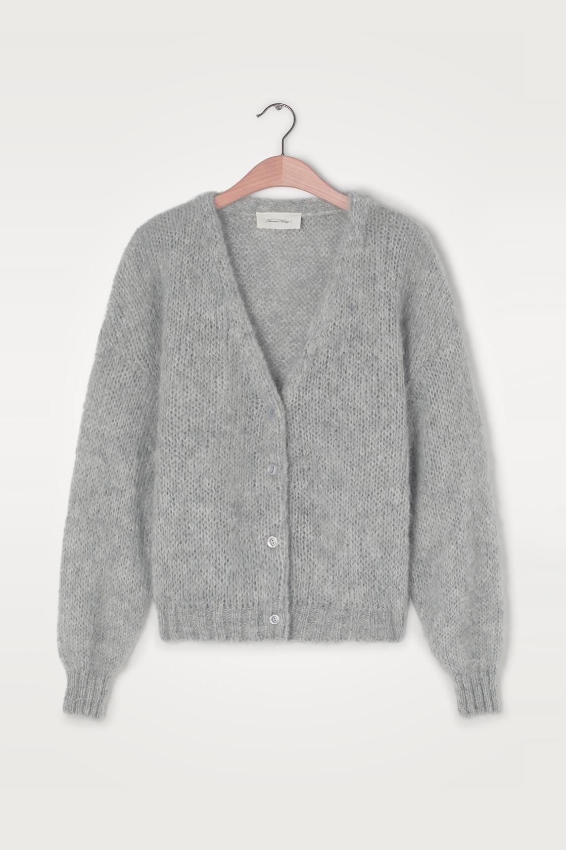 Vogbay Cardigan - Grey Melange-1