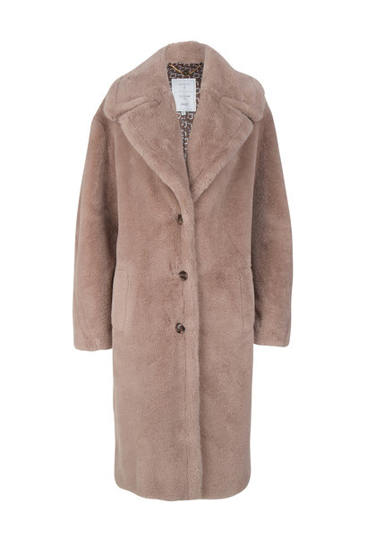 Peluche Faux Fur Coat - Powder Rose