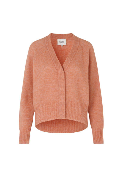 Brook Knit Boxy Cardigan - Light Mahagony