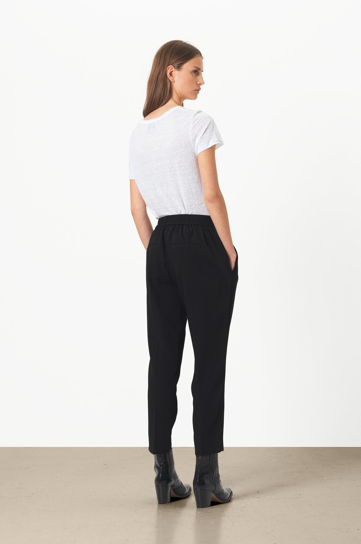 Garbo Trousers - Peppercorn-5