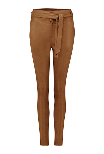 Ann Leather Pant - Cognac