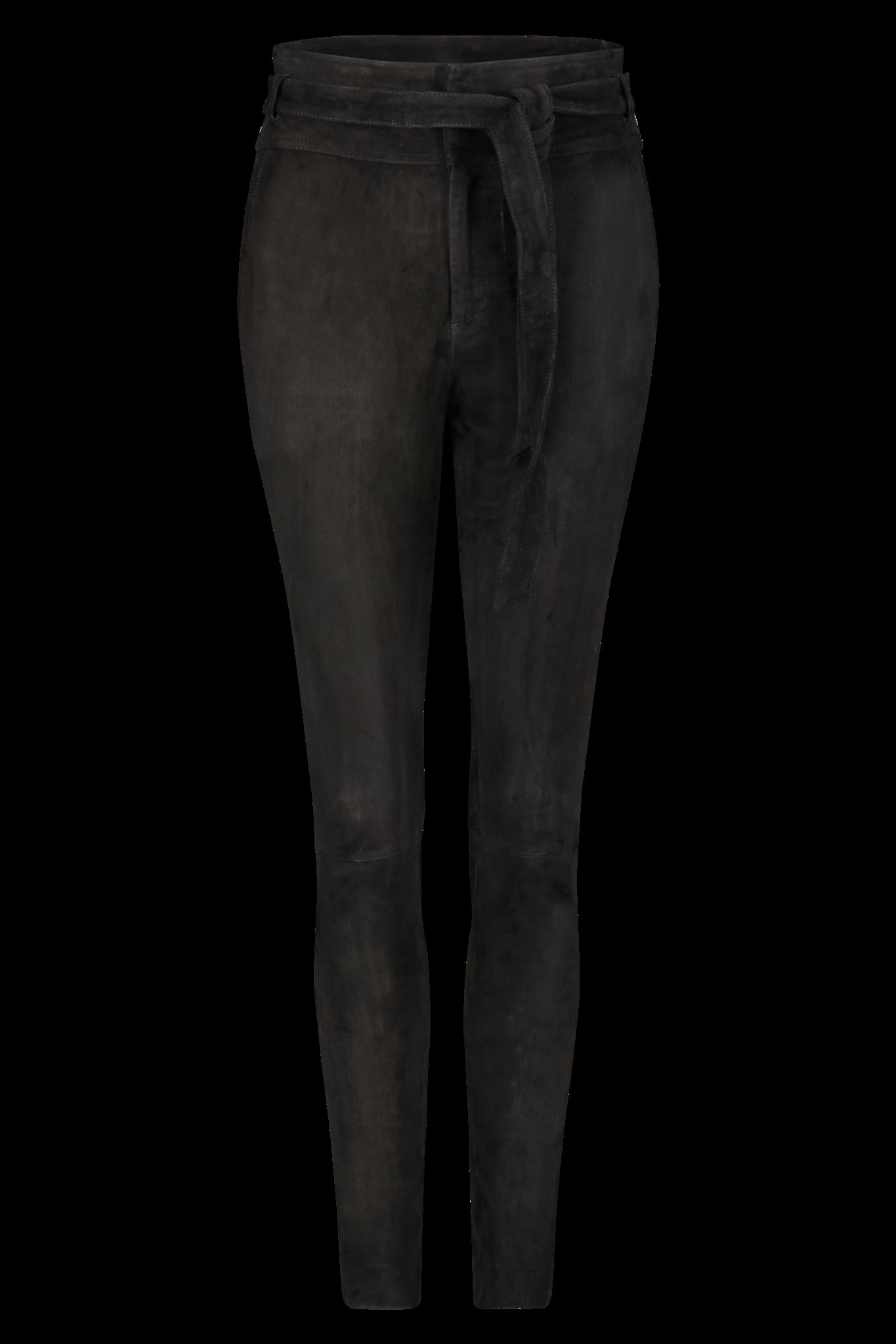 Ann Suede Pant - Black S-1