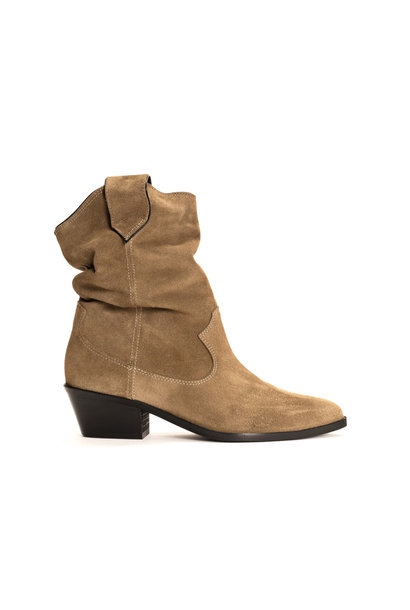 Saseline 35 Calf Suede Boot - Khaki