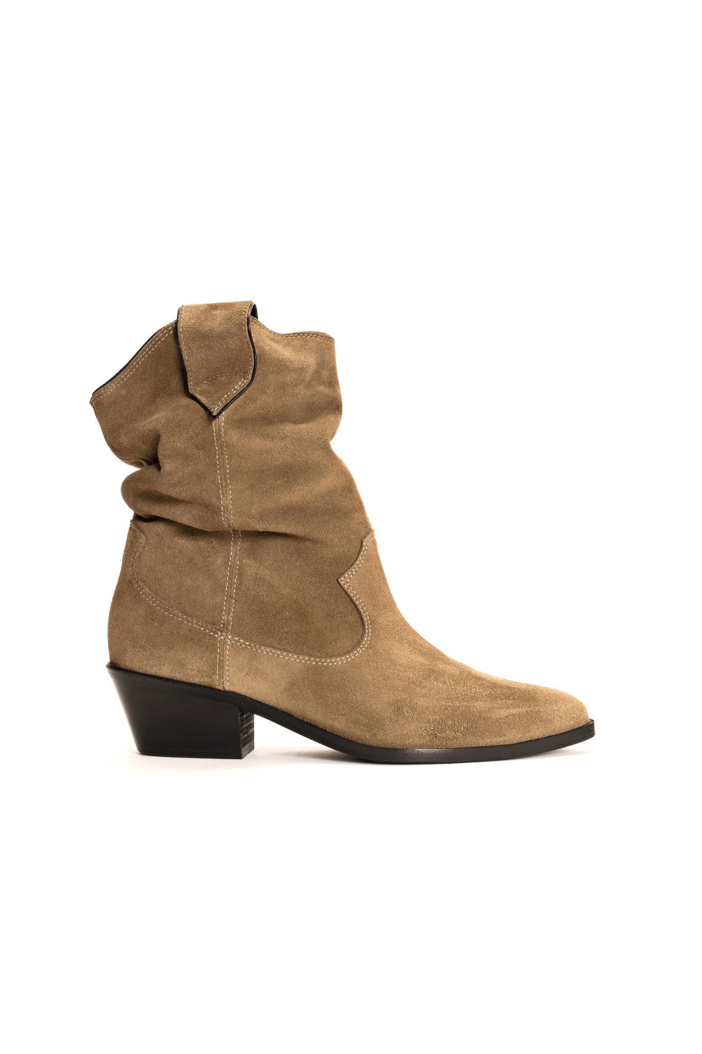 Saseline 35 Calf Suede Boot - Khaki-1