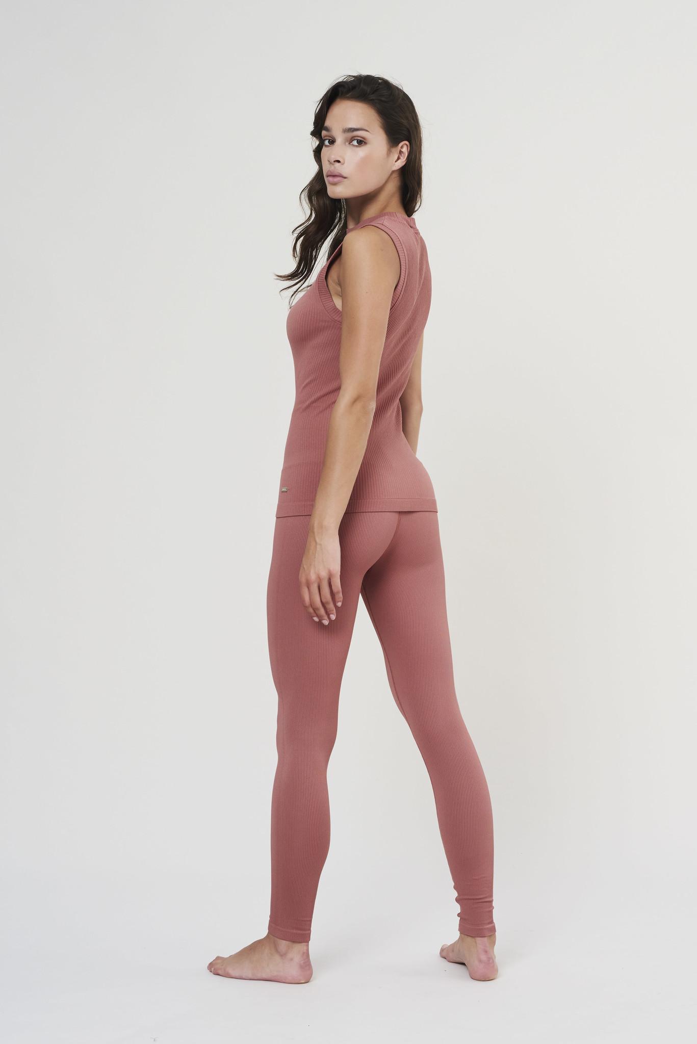 Luna Rib Legging - Clay-5