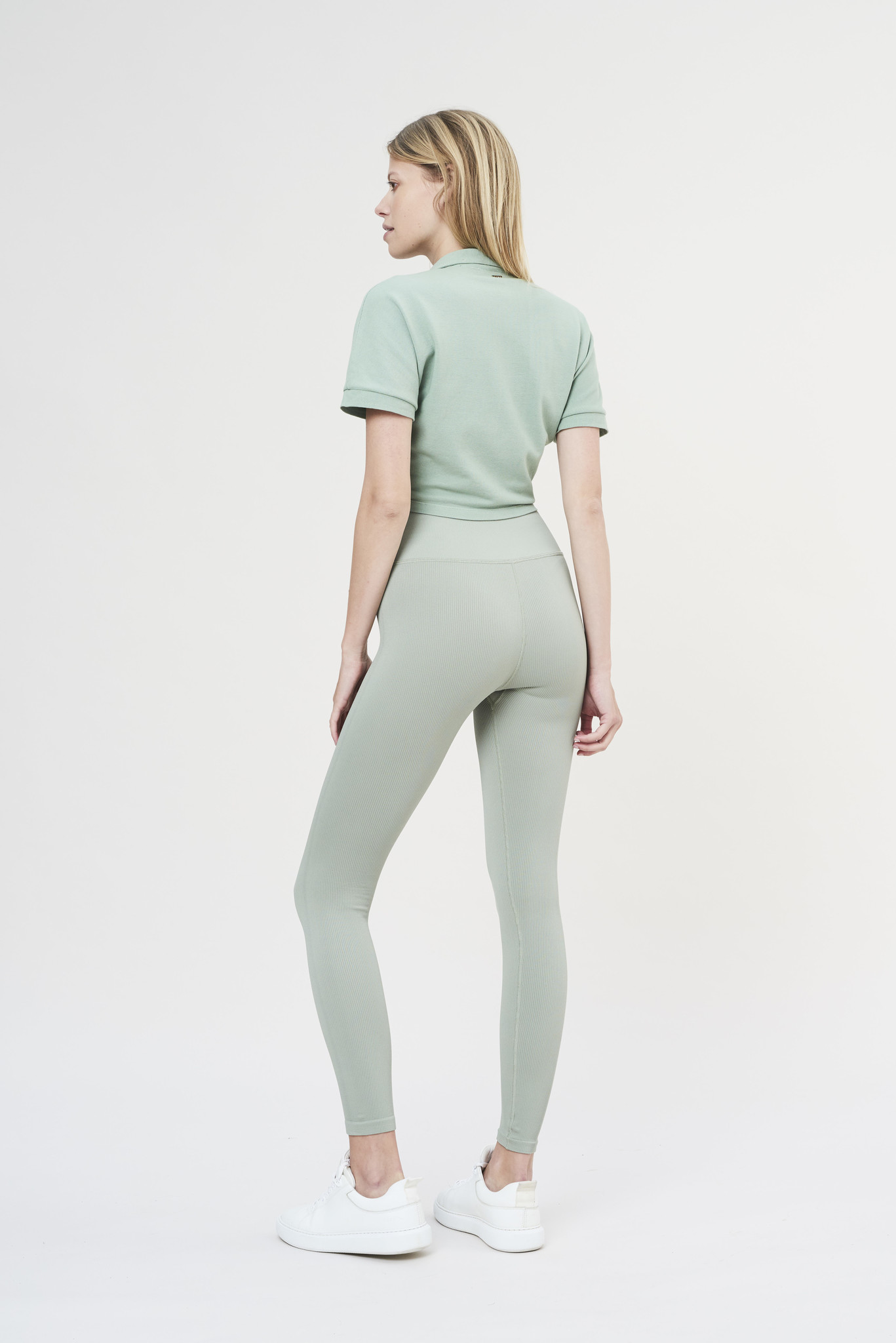 Luna Rib Legging - Sage-4