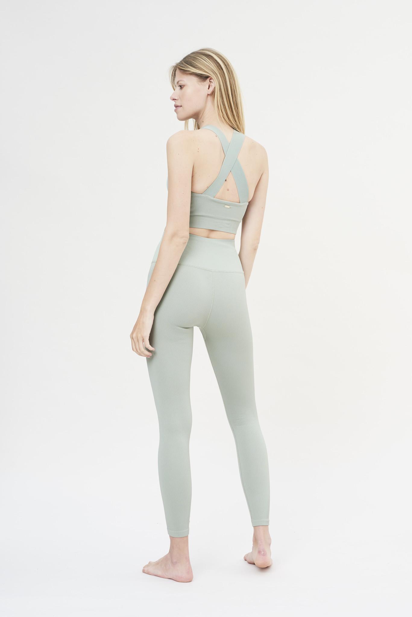 Luna Rib Legging - Sage-6