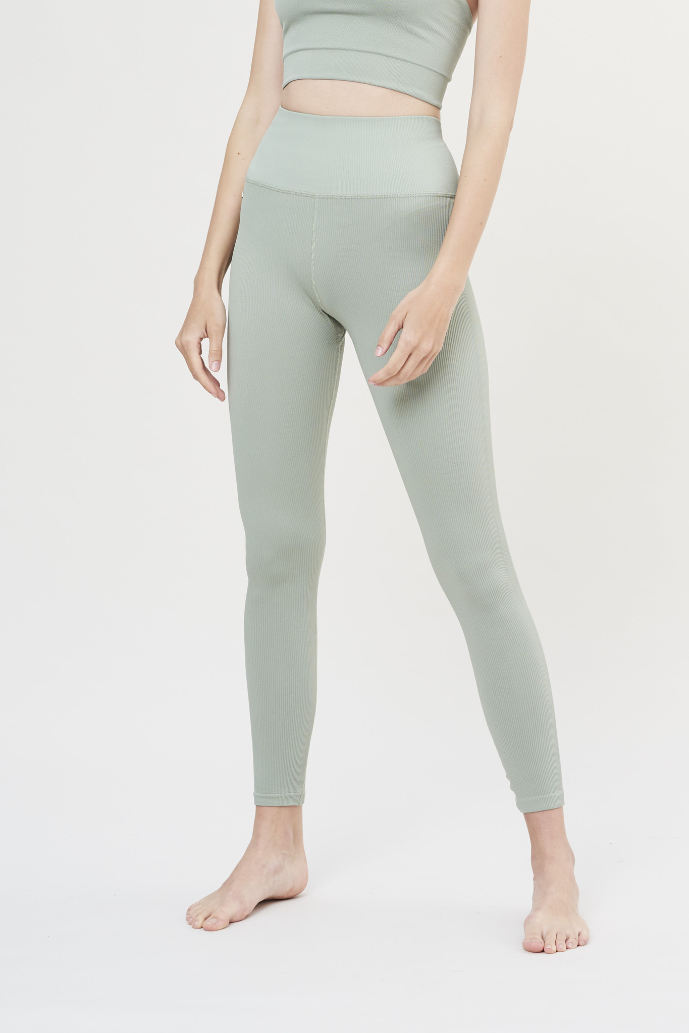Luna Rib Legging - Sage-2