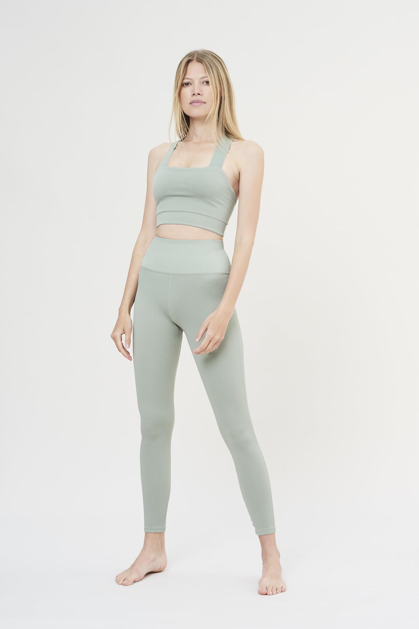Luna Rib Legging - Sage-9