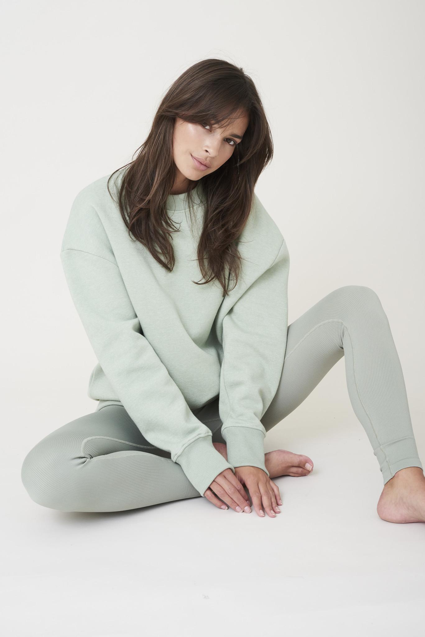 Kylie Sweater - Sage Groen-2