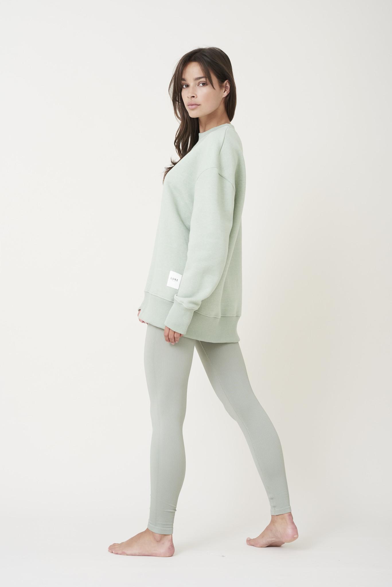 Kylie Sweater - Sage Groen-5